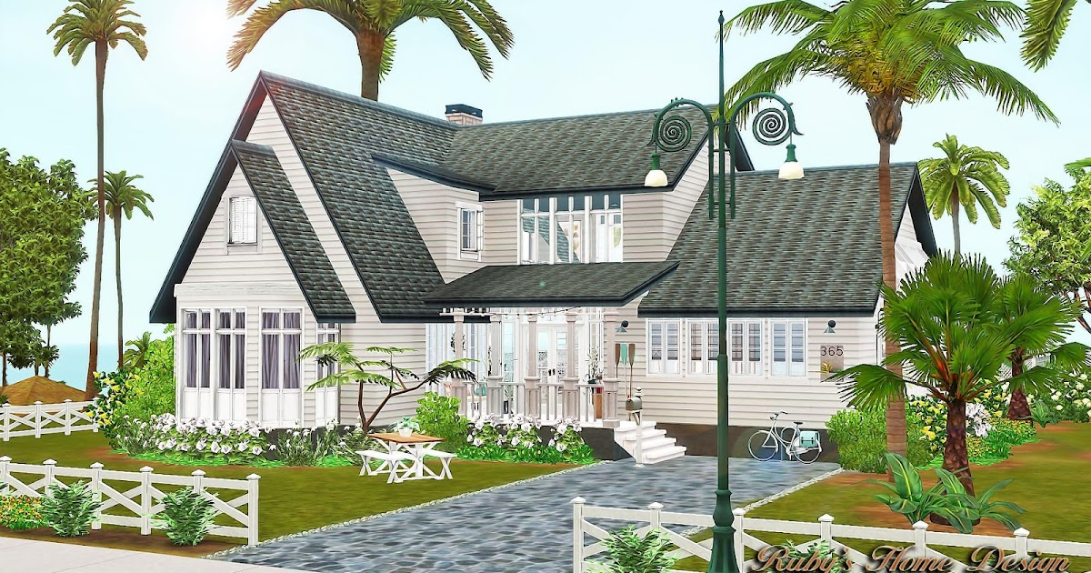 Sims3 summer time ruby 39 s home design At home architecture gordes 84