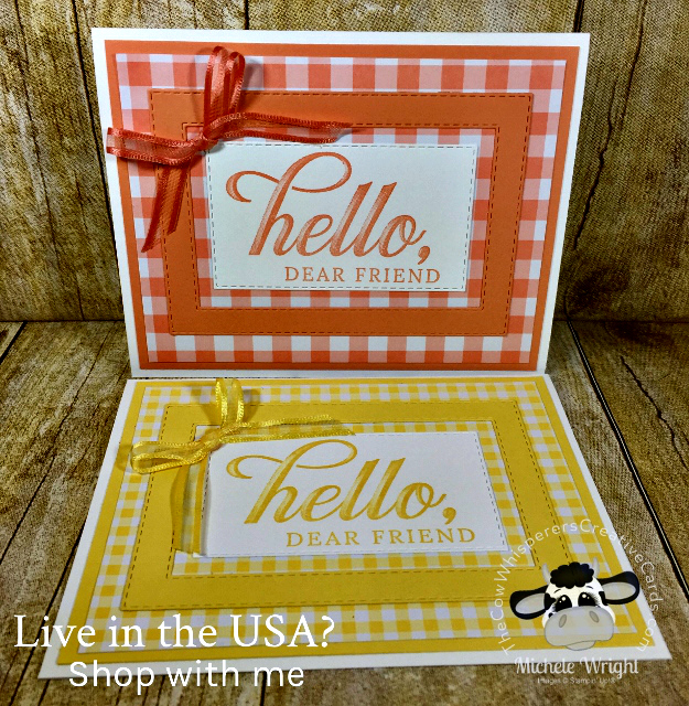 Card, Life is Grand, Gingham Gala, Clean & Simple, Stampin Up