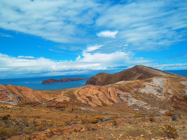 Barren landcape Isla Del Sol Lake Titicaca