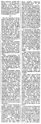 U.F.O. Files The Untold Story By Partick Huyghe (Pt 3A) - New York Times (10-14-1979)