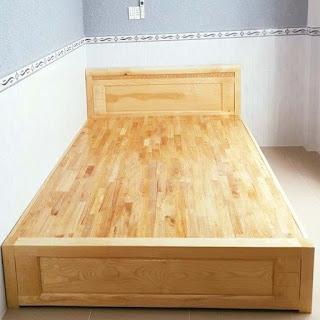 Dát phản giường bằng gỗ cao su
