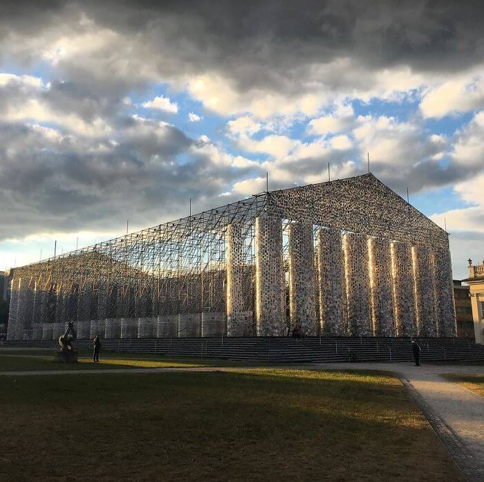 Artist Creates A Replica Of Greek Parthenon From 100,000 Banned Books
