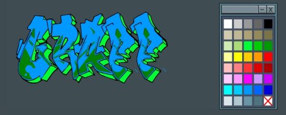 Awasome Graffiti: Graffiti Creator 3D Text