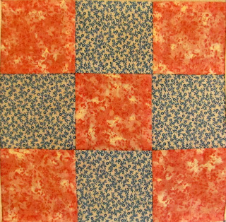 nine patch square quilt pattern