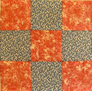 nine patch square quilt pattern