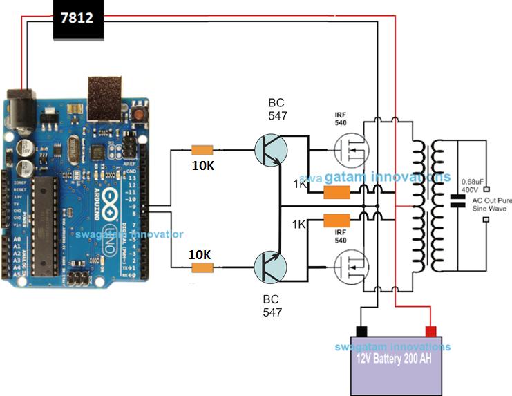 Diagram Simple Generator Whirlpool Washer Electrical Wiring Arduino Pure Sine Wave Inverter Circuit