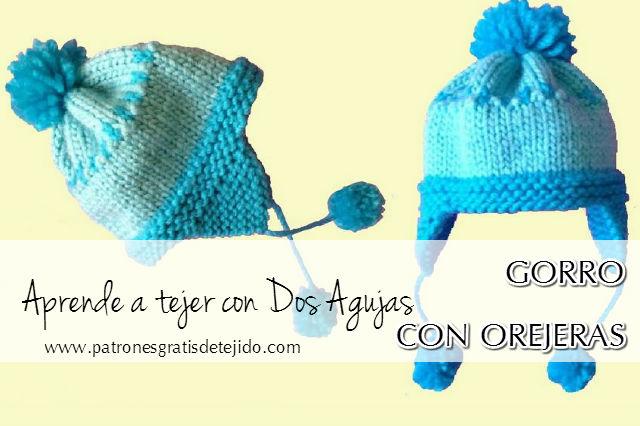 Cómo tejer Gorro de niño con orejeras | Crochet y Dos agujas ...