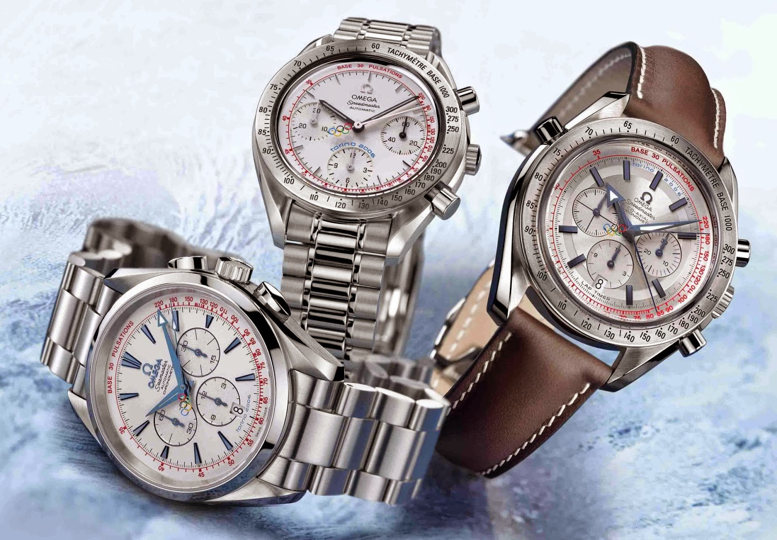 OMEGA Torino 2006 Collection Limited Series - Speedmaster Broad Arrow Co-Axial Rattrapante, Seamaster Aqua Terra Column-Wheel Chronograph and Speedmaster Automatic