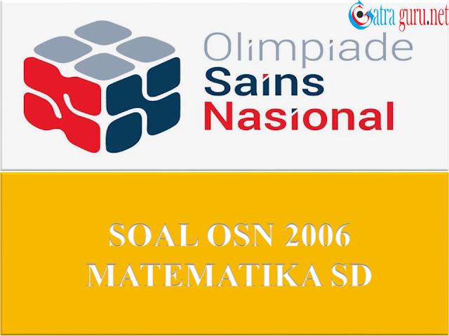 Soal OSN Matematika SD Tahun 2006
