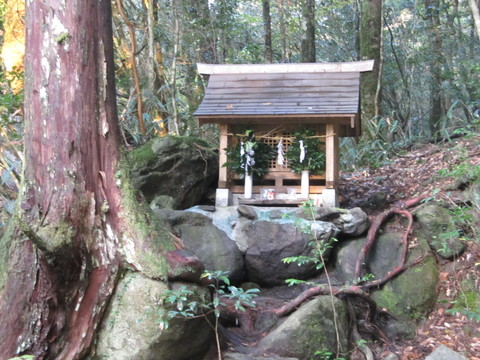 The shrine near the Kyuuharaigawa bridge in real life