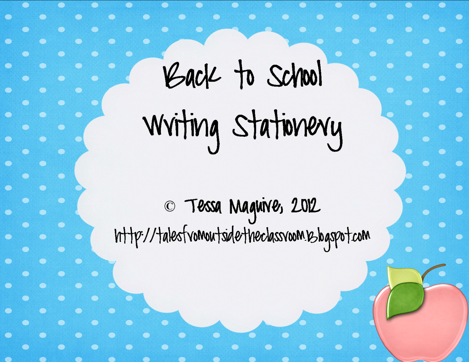 Back To School Writing Stationery