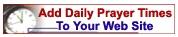 Tambah Jadwal Sholat Harian di Blog