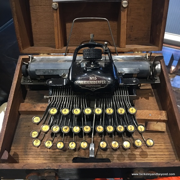 antique Blickensderfer No.5 typewriter displayed in the lobby of The Duniway Portland, a Hilton Hotel in Portland, Oregon