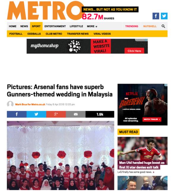 Tema Perkahwinan Yang Unik Cetus Perhatian Dari Luar Negara...Ohsemm!