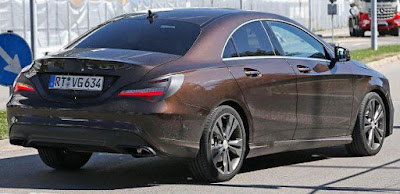 Mercedes CLA Facelift right side rear look Hd Images