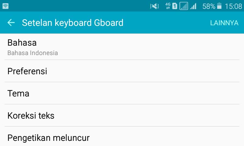 cara mengganti keyboard android