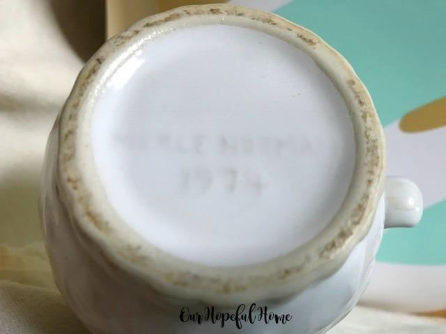 Merle Norman 1974 white pitcher foaming bath oil