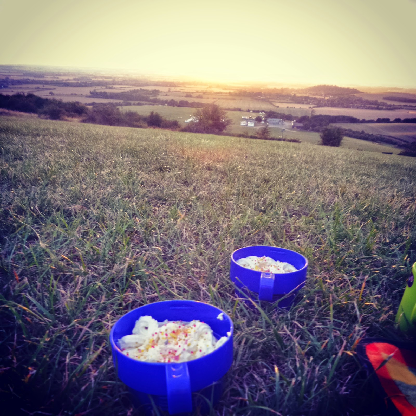 Hot Chocolate At Sunset on Dunstable Downs