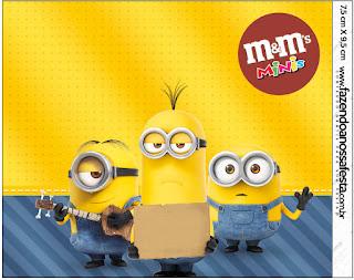 Etiqueta M&M de Película de los Minions para imprimir gratis.