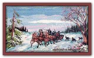 "Download embroidery scheme Rogoblen 6.10 ""Russian Winter"""