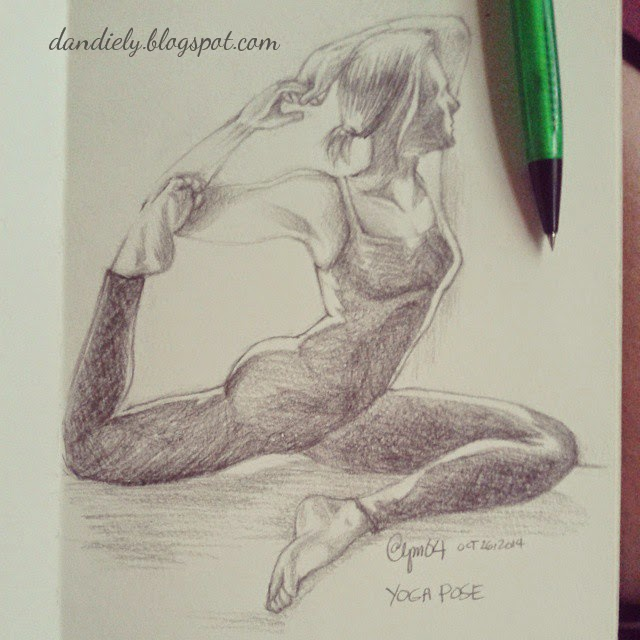 dandiely - yoga pose artwork
