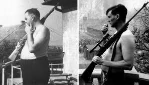 Amon Göth a la izquierda y el actor Ralph Fiennes a la derecha.