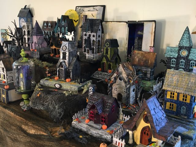 With Glue and Glitter : Halloween Village 2017 for Habitat for ...