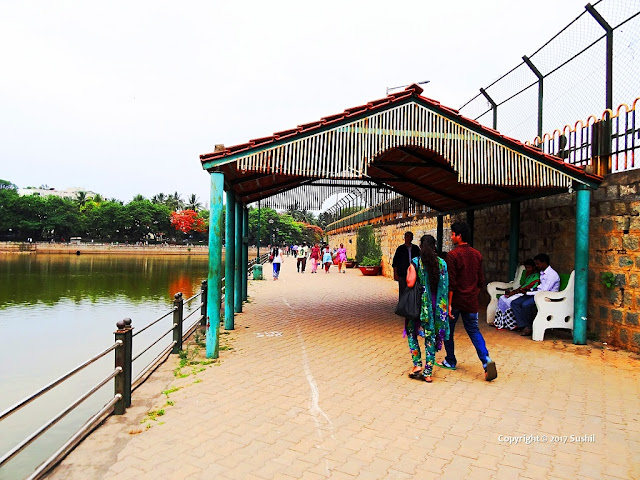 Walking Area around Sankey Tank Lake, Bangalore