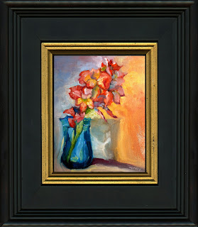 framed oil sample by C. Twomey