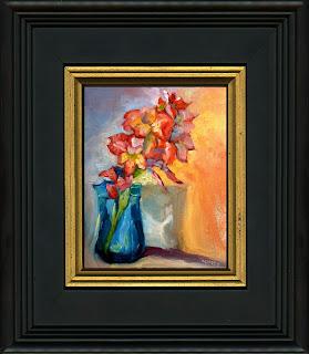 framed oil sample by C. Twomey