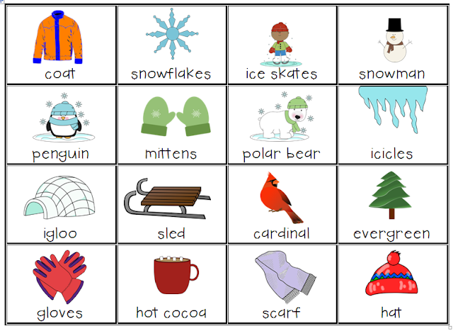 Using word cards allows students to focus on content instead of worrying about spelling. This Winter Word Card can be used 10 different ways!