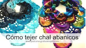 Cómo tejer chal de abanicos / Tutorial Crochet