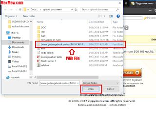 zippyshare,pilih file,unggah file,upload file,upload ke zippyshare