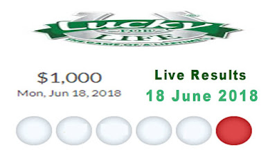 Lucky For Life Lottery Results 18 June 2018