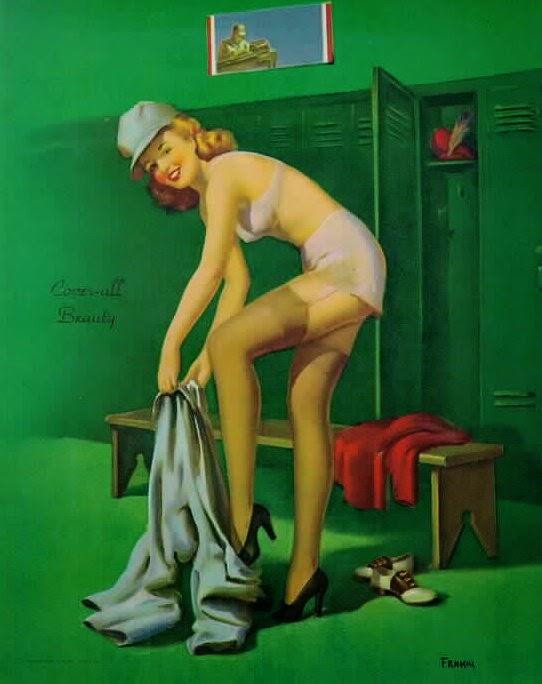 Menina no Trabalho - Art Frahm e suas principais obras - Artista Pin-up