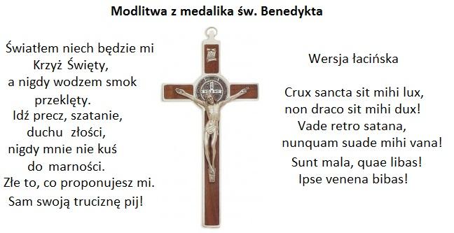 Znalezione obrazy dla zapytania litania do sw. benedykta