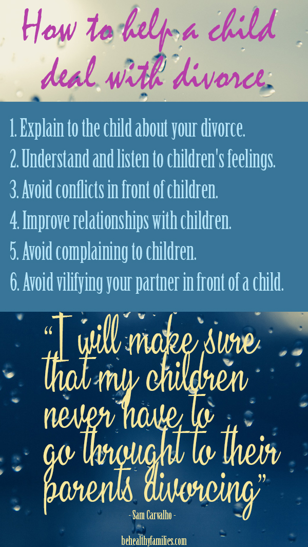6 Ways help a child deal with divorce