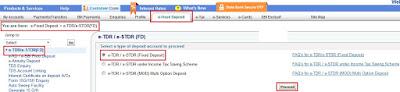 OnlineSBI FD or eTDR Account