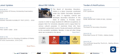 BSE Odisha 10th Exam Time Table 2019