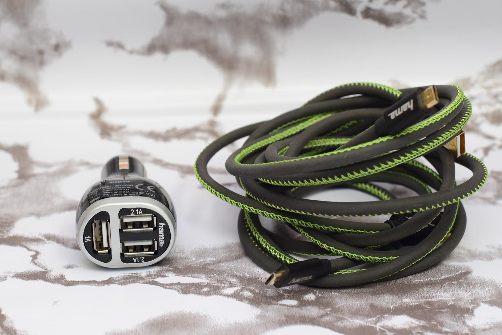 długi kabel ładujący