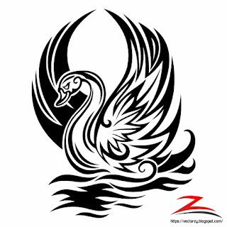 Download Vector Gambar Angsa / Swan CorelDraw CDR