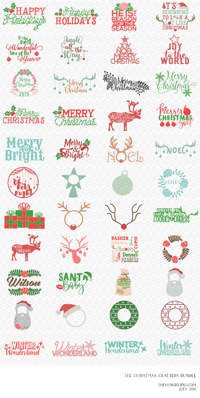 Commercial use christmas designs silhouette cameo