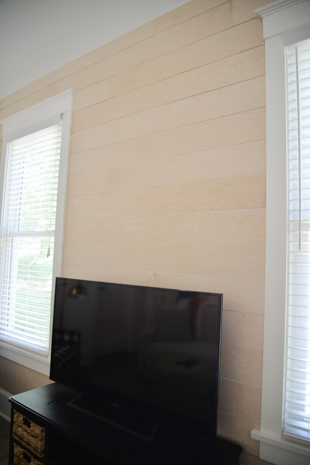DIY shiplap maple plywood plank natural | Ramblingrenovators.ca