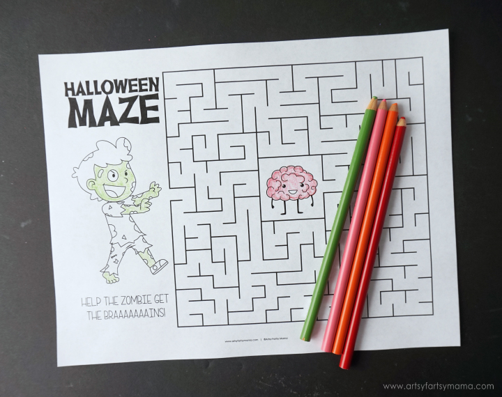 Free Printable Halloween Activity Pack - Halloween Maze