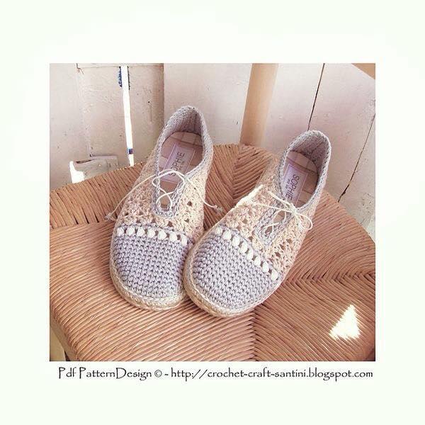 buty szydelkowe wzory