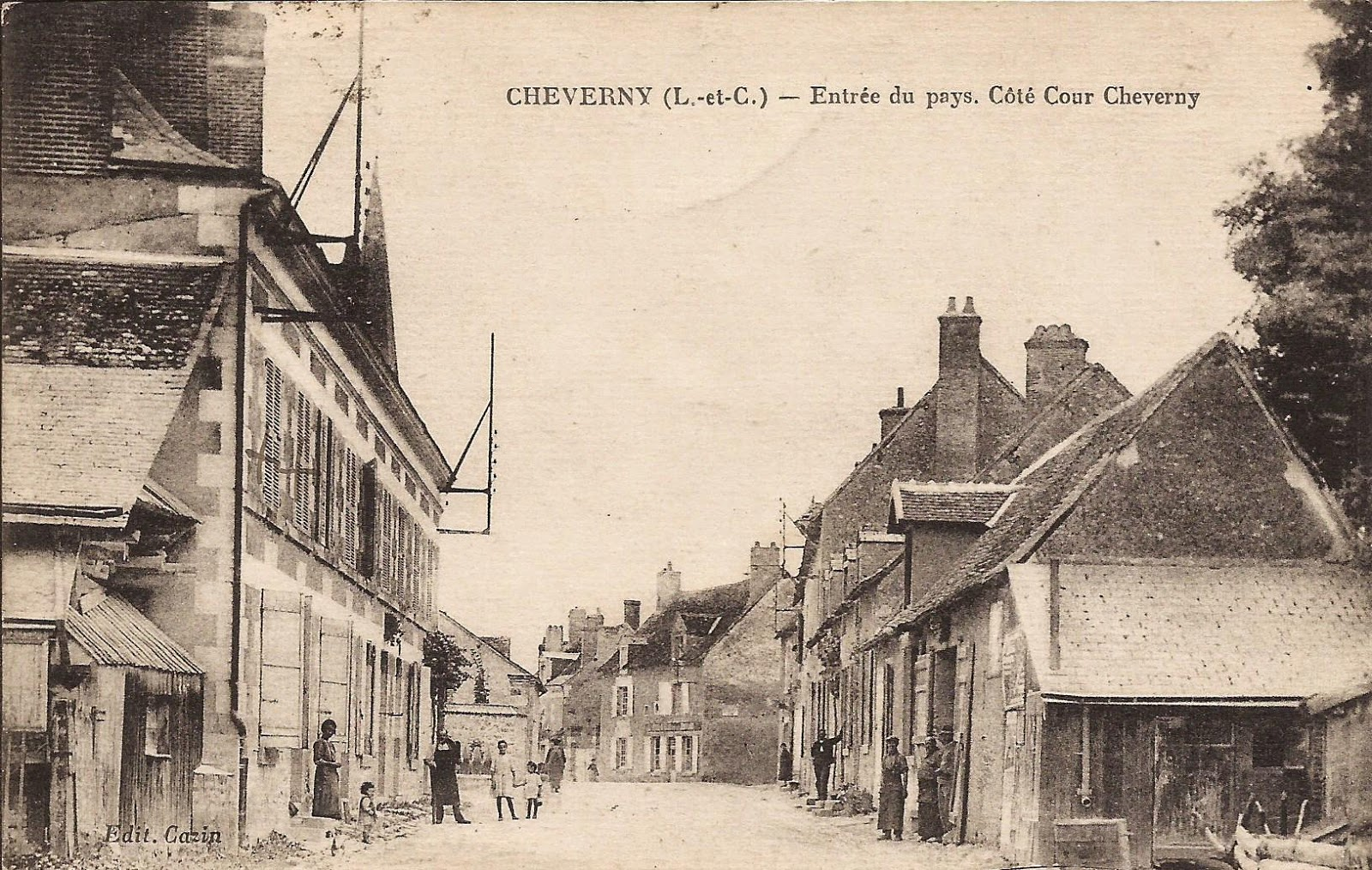 Rue Nationale à Cour-Cheverny