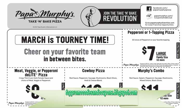 image about Papa Murphy's Printable Coupon identified as Cost-free Promo Codes and Coupon codes 2019: Papa Murphys Coupon codes