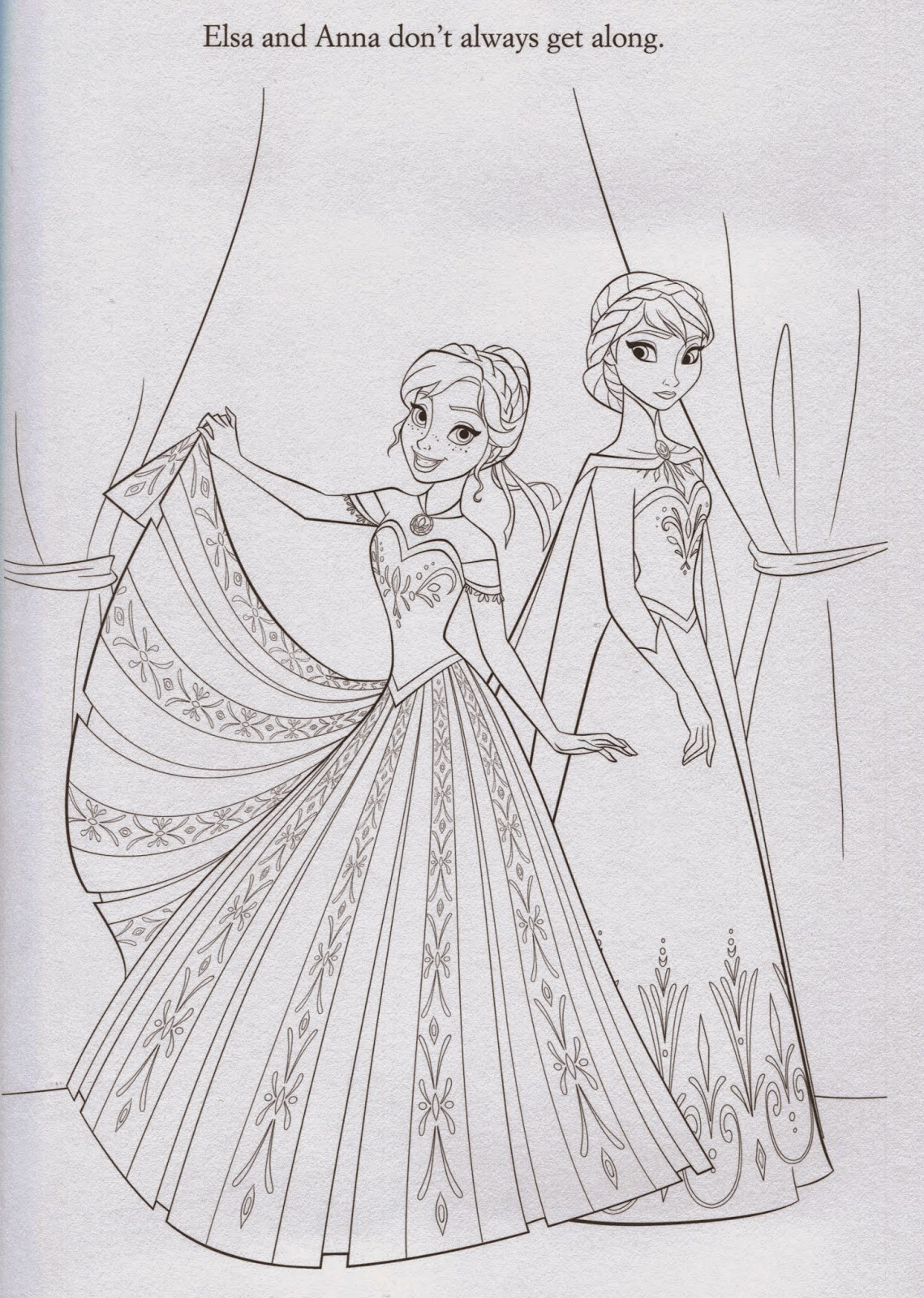 Coloring Pages Elsa From Frozen Free Printable Coloring Pages