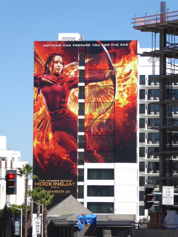 Giant Katniss Hunger Games Mockingjay 2 billboard