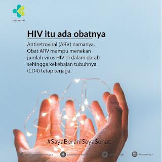 Obat HIV itu disebut ARV